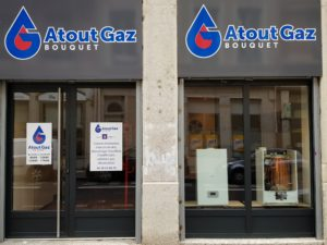 Vitrine Agence Atout Gaz à Lyon 6°